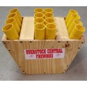 "16 Shot Fan Rack With 1.75"" Fiberglass Mortar Tubes"