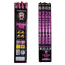 Platinum Pink 5-Ball Roman Candles 4pk