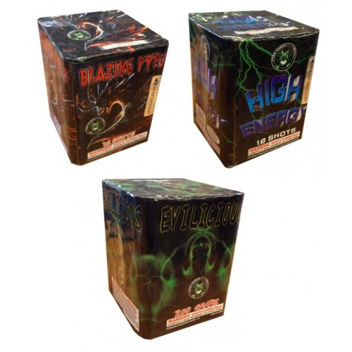 Wholesale Fireworks Ultimate Evil Trio Assortment Case 18/1 Multimate Assortiment