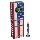 "Wholesale Fireworks Salute To The Flag 5"" Super Canister Shells Case 24/4"