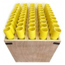 "50 Shot Fan Rack With 1.75"" Fiberglass Mortar Tubes"