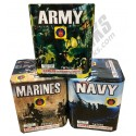 Army, Navy and Marines 3pk Assortment