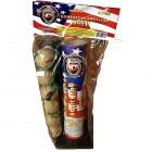 Wholesale Fireworks Dominator Artillery Shells 6ct Value Bag Case 24/6