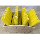 "24 Shot Adjustable Fan Rack With 1.75"" Fiberglass Mortar Tubes"