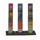 Wholesale Fireworks Single Shot Tube With Assorted Effects #200 24/1 Case