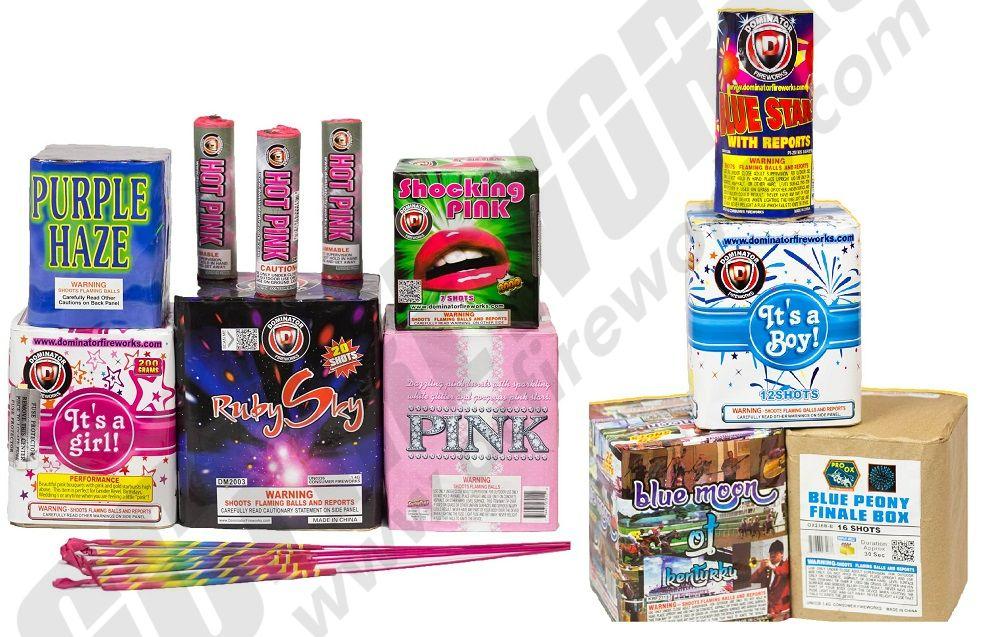Buy Gender Reveal Fireworks Online, Pink and Blue Fireworks